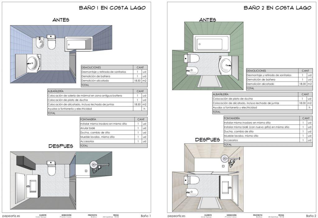 Proyecto reforma baños en Torremolinos Málaga 5
