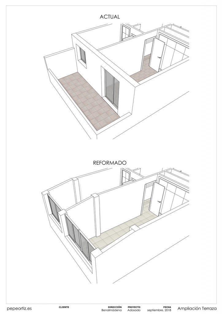 Proyecto reforma vivienda adosado Benalmadena Malaga - 1
