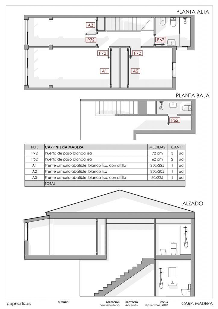 Proyecto reforma vivienda adosado Benalmadena Malaga - 10