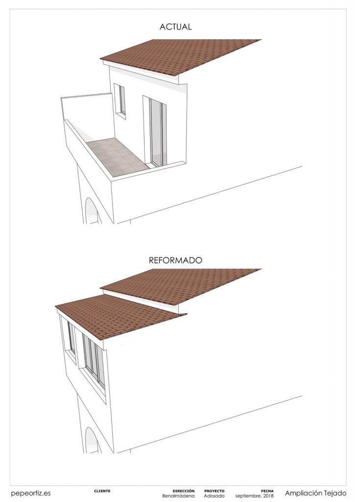 Proyecto reforma vivienda adosado Benalmadena Malaga - 2