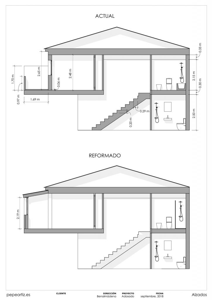 Proyecto reforma vivienda adosado Benalmadena Malaga - 5