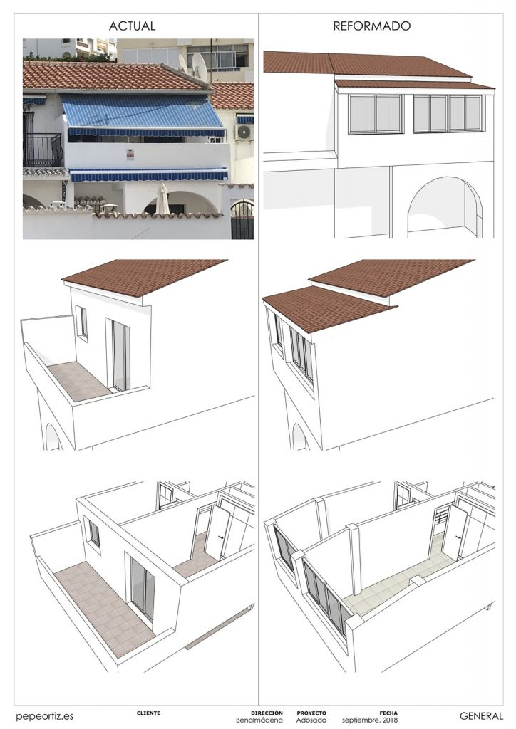 Proyecto reforma vivienda adosado Benalmadena Malaga - 7