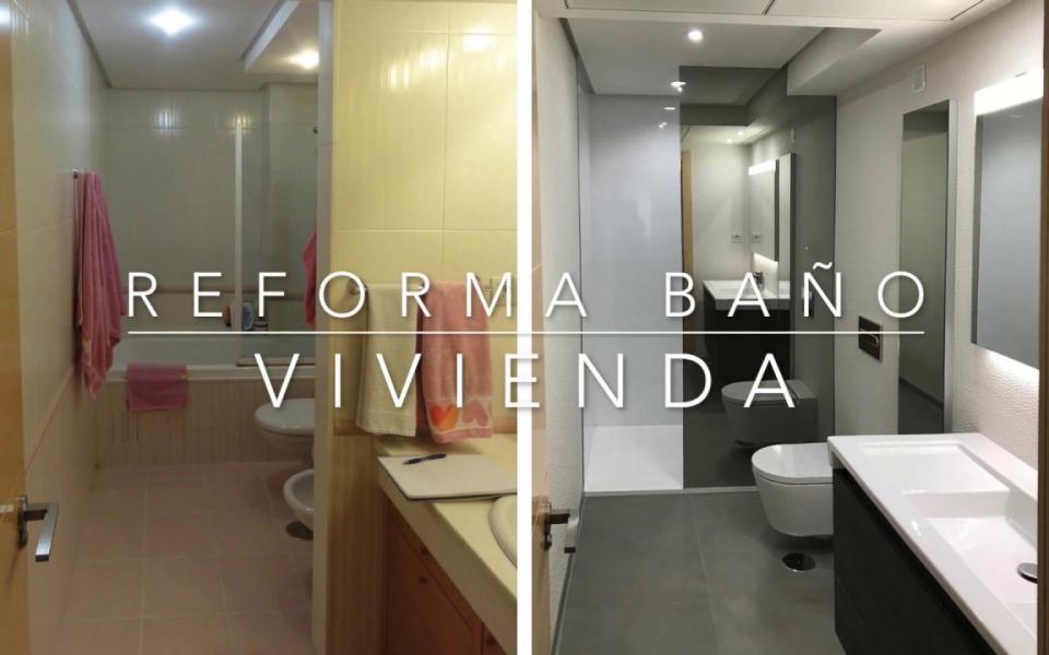 Reforma de bano con pladur y vinilo en Malaga