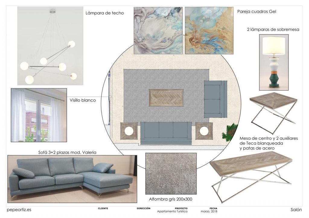 proyecto de mobiliario y decoración piso alquiler Marbella Málaga 2