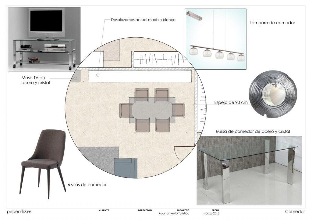 proyecto de mobiliario y decoración piso alquiler Marbella Málaga 3