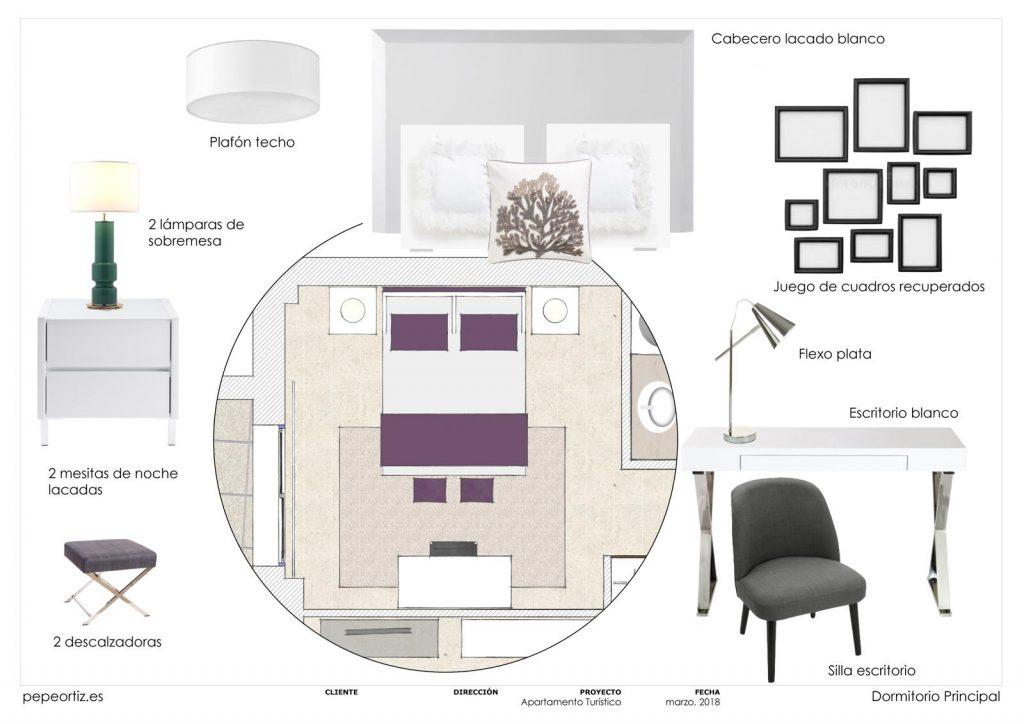 proyecto de mobiliario y decoración piso alquiler Marbella Málaga 4