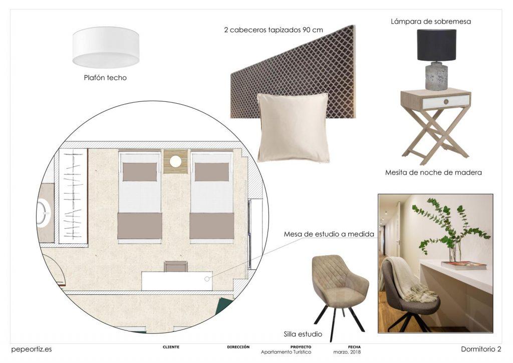 proyecto de mobiliario y decoración piso alquiler Marbella Málaga 5