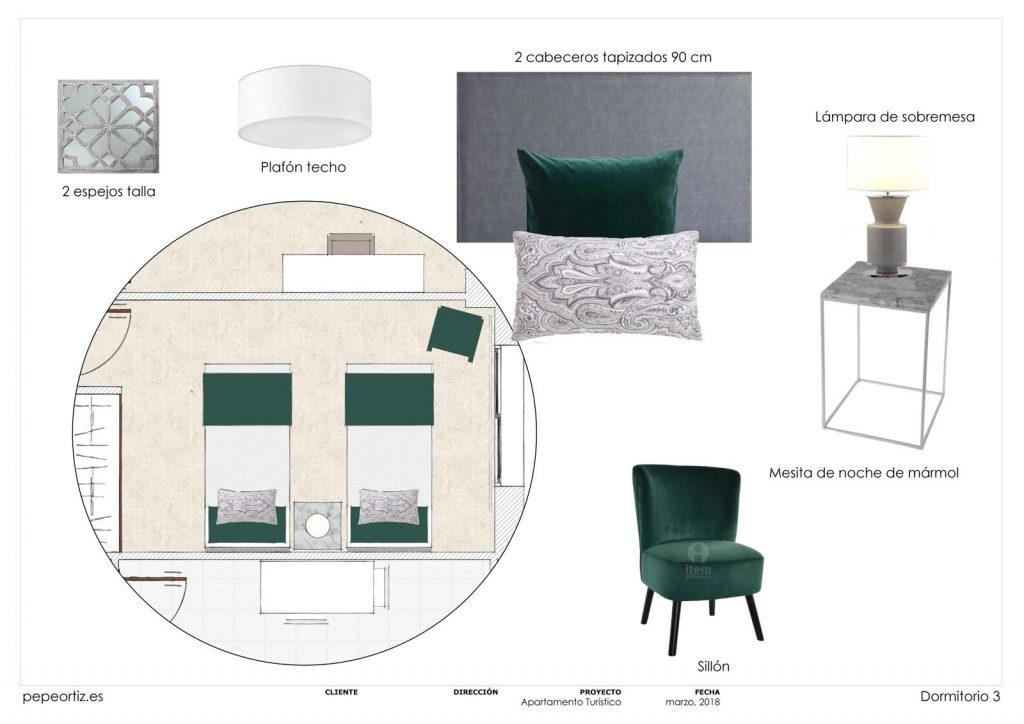 proyecto de mobiliario y decoración piso alquiler Marbella Málaga 6