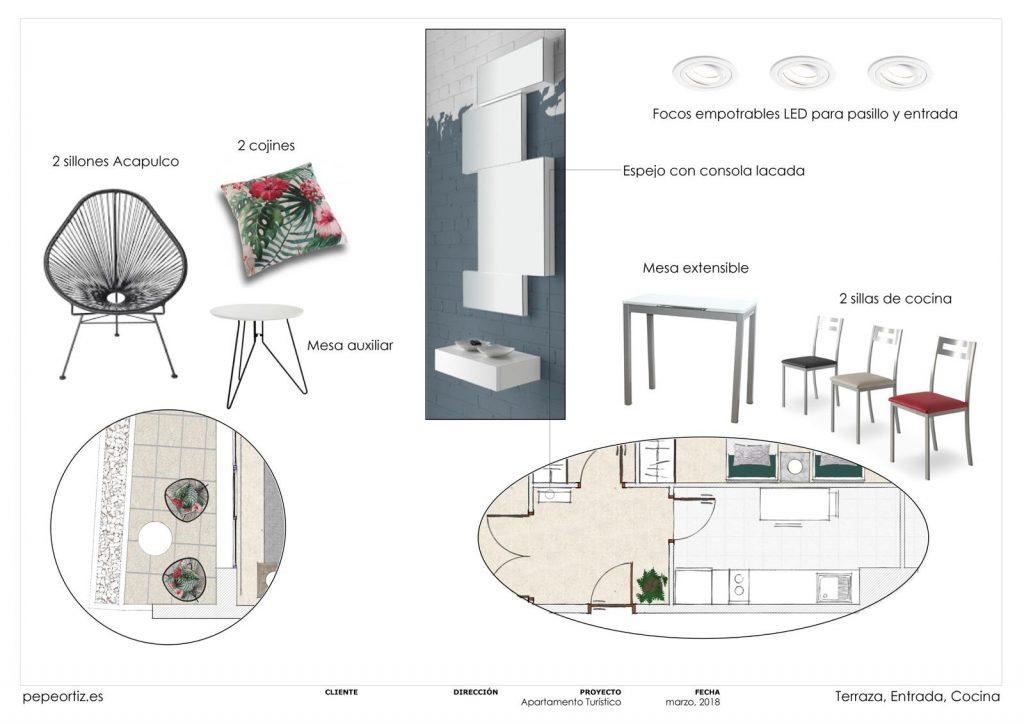 proyecto de mobiliario y decoración piso alquiler Marbella Málaga 7