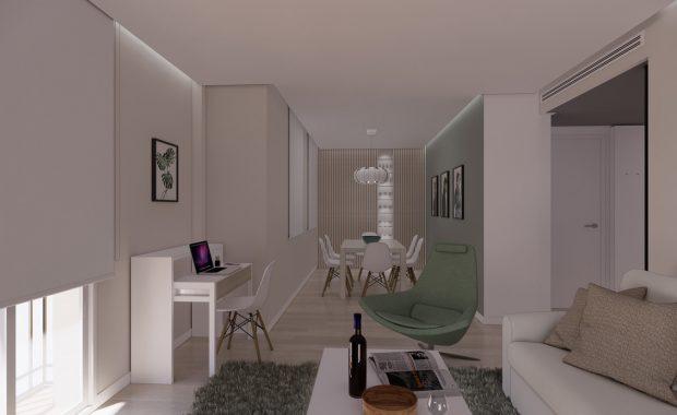 proyecto interiorismo reforma y decoración de vivienda en calle gerona malaga - 0