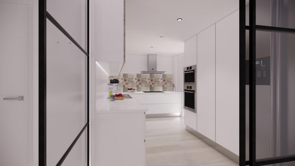 proyecto interiorismo reforma y decoración de vivienda en calle gerona malaga – 11 – cocina hidraulico