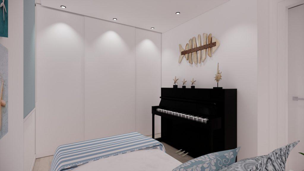 proyecto interiorismo reforma y decoración de vivienda en calle gerona malaga – 14 – dormitorio mediterraneo