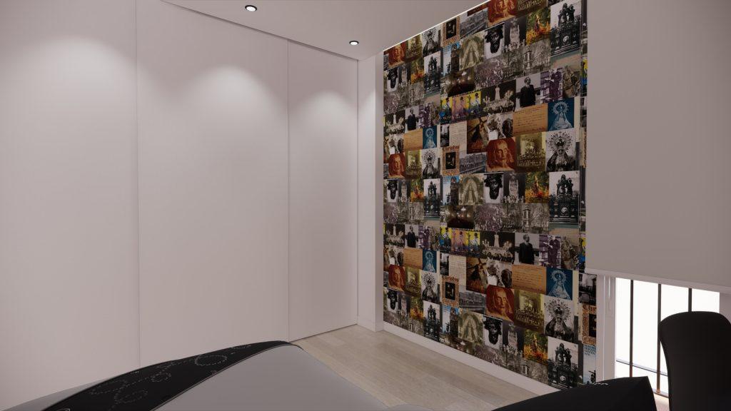 proyecto interiorismo reforma y decoración de vivienda en calle gerona malaga – 16 – dormitorio juvenil semana santa vinilo