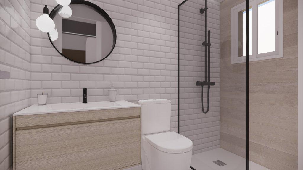 proyecto interiorismo reforma y decoración de vivienda en calle gerona malaga – 17 – bano azulejo metro