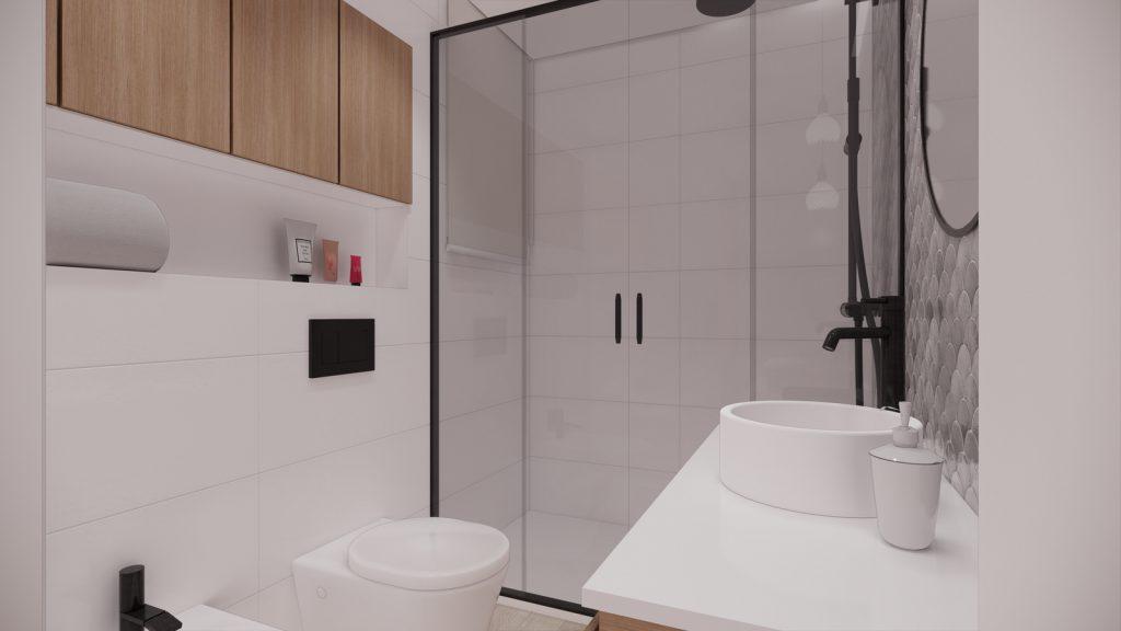 proyecto interiorismo reforma y decoración de vivienda en calle gerona malaga – 21 – bano wc suspendido azujejo escama