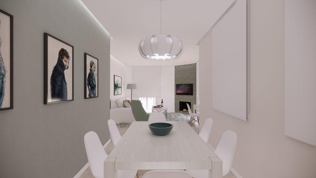 proyecto interiorismo reforma y decoración de vivienda en calle gerona malaga – 4 – comedor salon