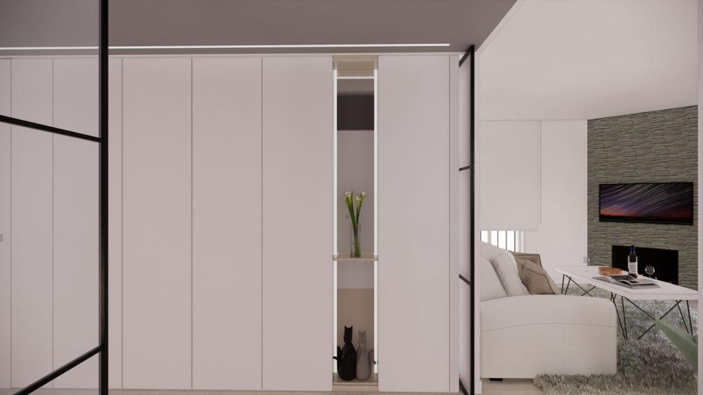 proyecto interiorismo reforma y decoración de vivienda en calle gerona malaga – 8 – entrada recibidor