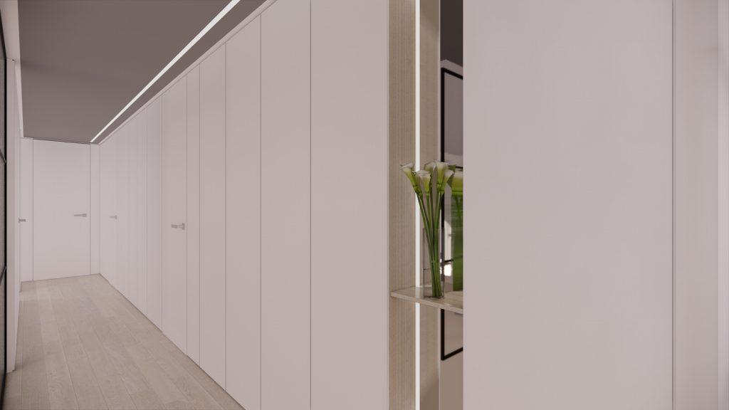 proyecto interiorismo reforma y decoración de vivienda en calle gerona malaga – 9 – pasillo cerrado