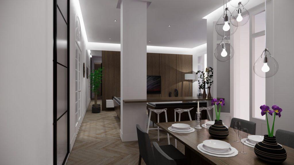 proyecto interiorismo reforma y decoración de vivienda en paseo reding malaga - 6