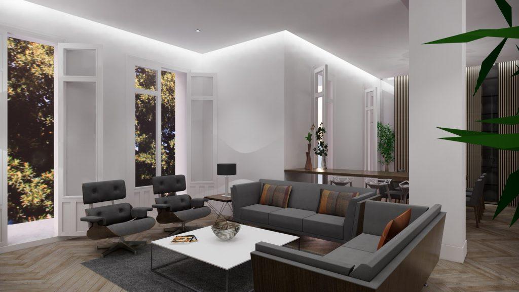 proyecto interiorismo reforma y decoración de vivienda en paseo reding malaga - 8