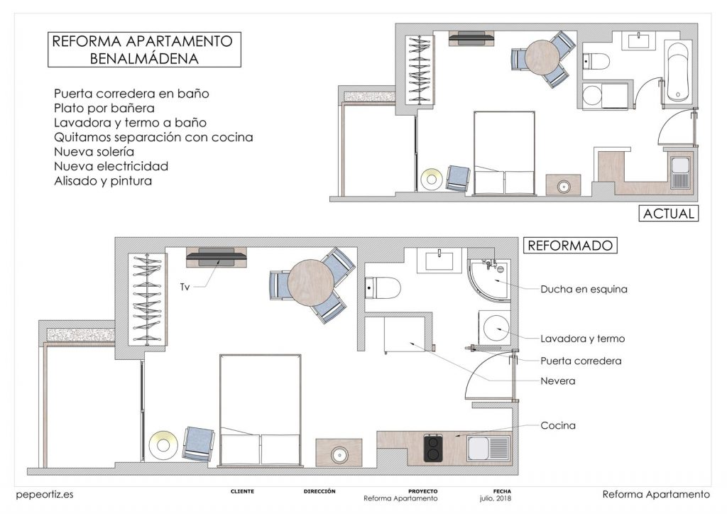 proyecto reforma apartamento en Benalmádena Málaga 1