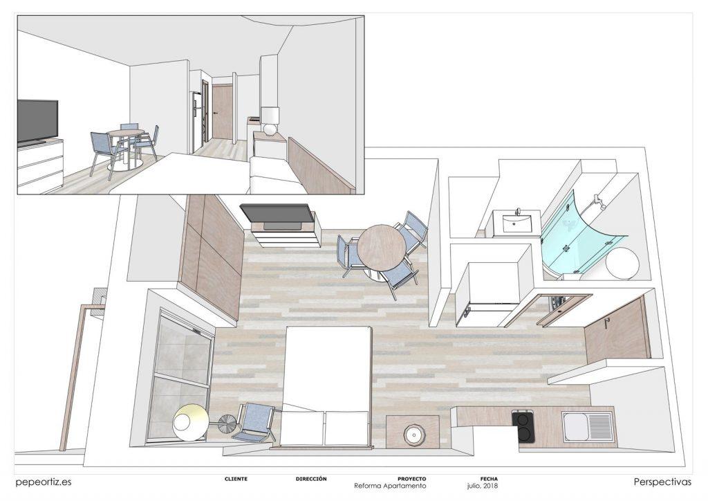 proyecto reforma apartamento en Benalmádena Málaga 2
