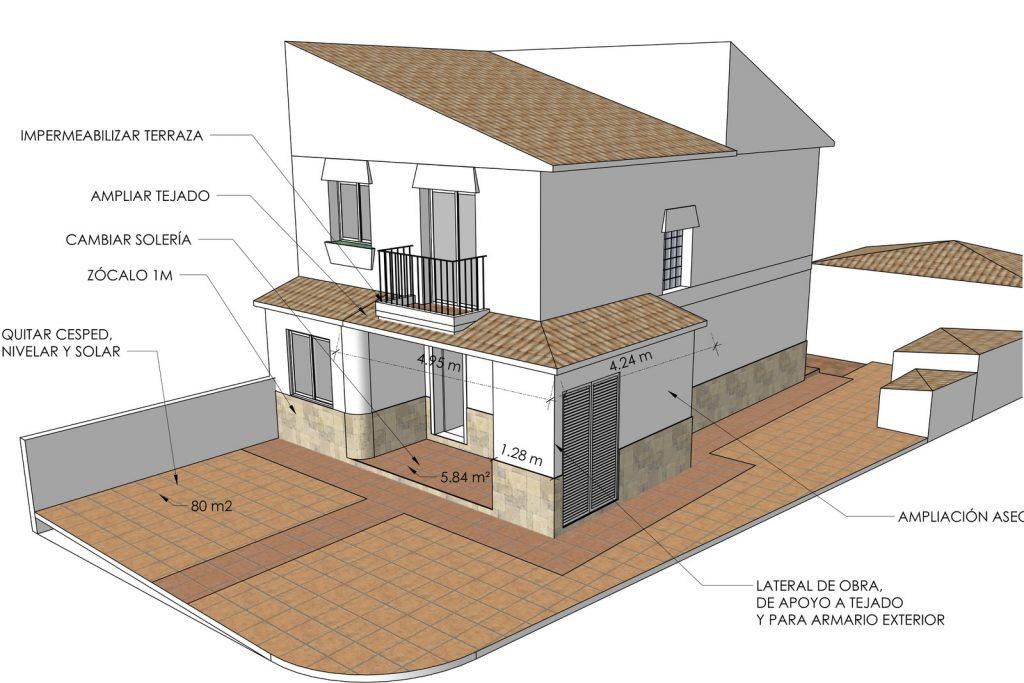 proyecto reforma casa dos plantas en Alhaurín Málaga 0