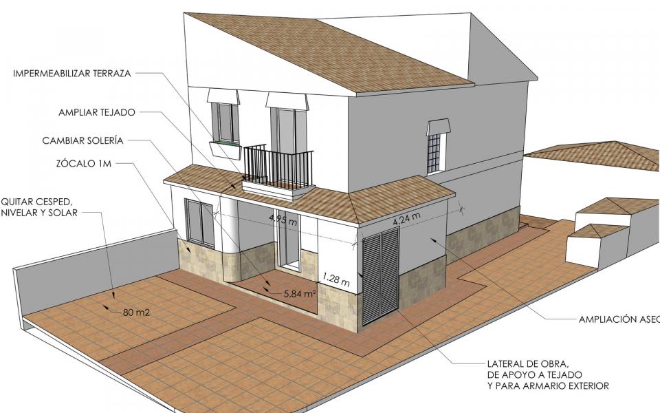 Proyecto de reforma de casa de dos plantas en Alhaurin, Malaga