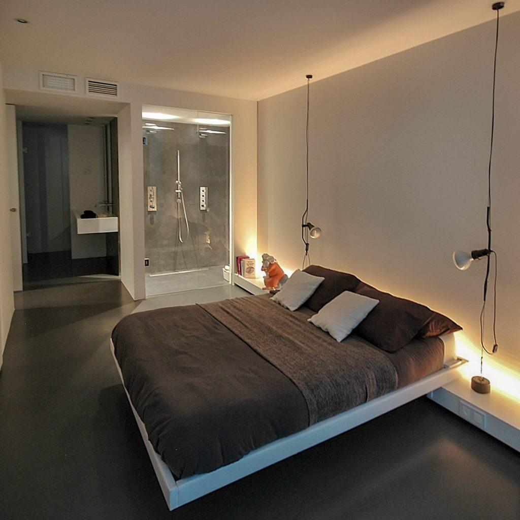 reforma de vivienda con pladur microcemento madera y cristal en Málaga 4