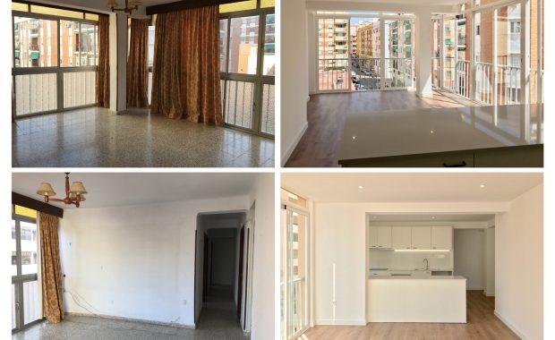 reforma integral vivienda en Malaga - Antes y Después y Obra
