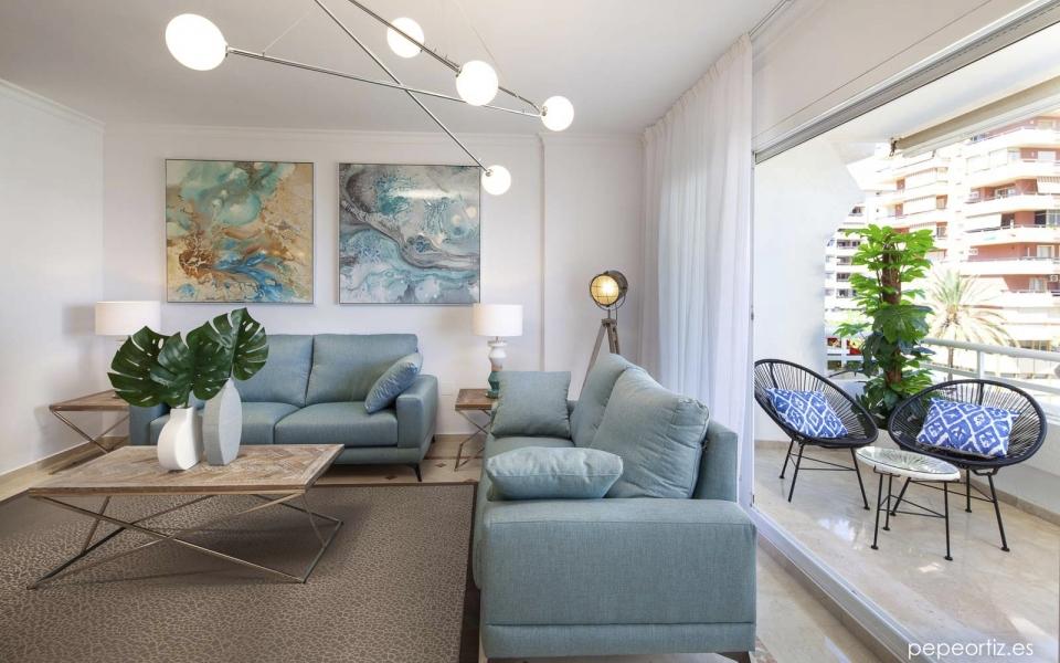 Reforma, mobiliario y decoracion de piso para alquiler en Marbella, Malaga